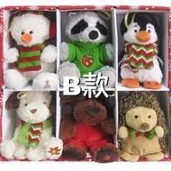 Costco 4.5吋絨毛聖誕裝飾玩偶6入
