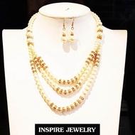 Inspire Jewelry เครื่องประดับชุดไทย ชุดมุกตามแบบ พร้อมต่างหู  สวยงามมาก เหมาะกับการแต่งกายที่สวยงาม เสื้อลูกไม้ ชุดไทย ผ้าไหม ผ้าไทยต่างๆ