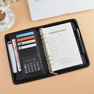 筆記本 多功能經理夾 拉鏈包A5筆記本文具 6孔活頁記事本萬用手冊 銷售夾【快速出貨】