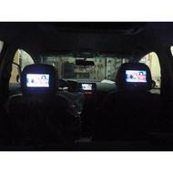 """(柚子車舖) 三菱 GRUNDER 7"""" 雙頭枕型固定式螢幕(報價一組價) LANCER IO 可到府安裝"""