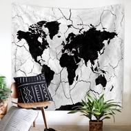 原創水彩世界地圖掛毯 北歐風家居掛毯掛布 世界地圖 復古地圖  ins掛毯 掛布 桌布 掛畫 牆面裝飾背景布 野餐布