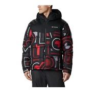 【Columbia 哥倫比亞】男款-Omni-HEAT 保暖連帽外套-黑色(UEO09020BK / 保暖.連帽.機能)