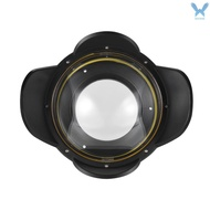 R&C MEIKON Underwater Camera 200mm Fisheye Wide Angle Lens Dome Port Case Shade Cover 60m/ 197ft Wat