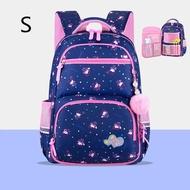 การ์ตูนพิมพ์เจ้าหญิงกระเป๋าเป้วัยรุ่น2ขนาดขนาดใหญ่ความจุศัลยกรรมกระดูกกระเป๋านักเรียนเด็กกระเป๋าสะพายเดินทาง Schoolbags