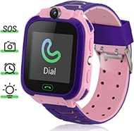 Kids Smart Watch, 1.44'' Touch Screen Kids Smart Watches with LBS Tracker Games SOS Call Camera Flashlight Smart Watch for Kids, Kids Phone Watches Compatible with iOS & Android (Pink)
