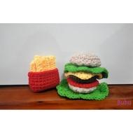 快樂速食餐(漢堡+薯條) 鉤針娃娃