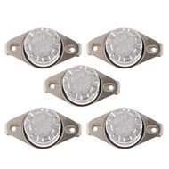Prettyia 5pcs NC Normally Closed Thermostat Temperature Thermal Switch KSD301