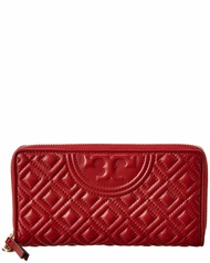 Tory Burch Womens  Fleming Leather Zip Continental Wallet