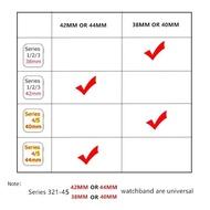 hot 42/44mm สายซิลิโคนสำรองเปลี่ยน AppleWatch Series 1/2/3/4/5/6 สาย Applewatch iWatch สาย 38mm 40mm 42mm 44mm