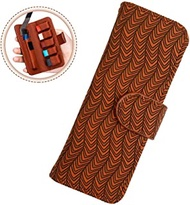 Stylish Texture Carrying Case Wallet for JUUL Pods and Charger,Portable Leather Cover Holder Compatible with JUUL and Other Popular Vapes,Pods,Charger(Device Not Included),Brown