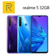 【滿$3000賺10%點數回饋,上限500點】realme 5   6.5吋 3G/32GB 超級四鏡頭-藍/紫