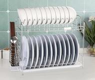 碗架 瀝碗架單層廚房用品304不銹鋼碗盤餐具置物架涼放碗碟收納瀝水架  雙11購物免運