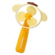 小禮堂 布丁狗 軟葉片大臉造型電池式隨身風扇《黃》手握扇.手持電風扇