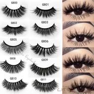 ☛☏❤3D Mink Eyelashes 5 Pairs Natural Fa