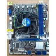 (A)華擎 1155腳位 H61M-HGS主機板+CPU I3-2100附檔板