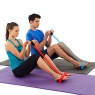 ยางยืดกีฬาออกกำลังกาย แบบ 4 เส้น สีฟ้า อุปกรณ์ช่วยยืดกล้ามเนื้อได้ดี พกพาสะดวก ยางยืดบริหารขา ยางดึงออกกำลัง ยางยืดแรงต้าน ยางยืดฟิตเนส สายยางยืดโยคะ ยางยืดเล่นโยคะ ยางยืดแขนโยคะ ยางยืดโยคะ สายยืดแรงต้าน สายดึงแรงต้าน สายยางแรงต้าน สายแรงต้าน Buz
