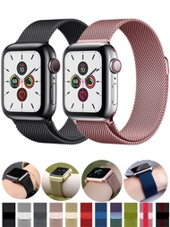 Milanese Loop For Apple watch band 40mm 44mm 38mm 42mm Metal Magnetic belt Stainless steel bracelet iWatch series 5 4 3 6 Strap
