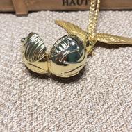 ✘❒◘  Harry potter snitch wing necklace pocket watch fashion vintage pocket watch students pocket watch