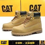 CAT卡特經典高幫大黃靴戶外休閑男鞋工裝鞋勞保鞋安全鞋防砸防刺