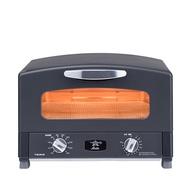 (4枚燒)日本Sengoku Aladdin 千石阿拉丁「專利0.2秒瞬熱」復古多用途烤箱(內附烤盤組)-黑色