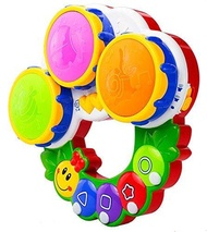 Baby Discovery Caterpillar Drums Kids Toy / TOY DRUMS FOR KIDS