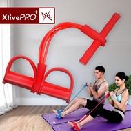 XtivePro ยางยืดออกกำลังกาย สีเเดง / สีฟ้า โยคะ ยางยืดแรงต้าน สายแรงต้าน Tummy Action Exercise Resistance Band