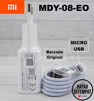 Xiaomi Charger Fast Charging MDY 08 EO Original Micro USB  For REDMI 3s / 6 / 5A / 4X / 4A / 5 Plus / 6A / 7A / 9A / C9 / Note 2 / Note 3 / Note 4 / Note 4X / Note 5 / Note 5 Pro / S2 - Putih