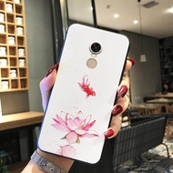 360n6 Pro Cool Popular Brand 360n7 Pro Phone Case Frosted Silicone Embossed Foundation Chinese Style Fancy Carp Lotus Fresh Couple 360n6 Pro Covered N7pro Protective Case