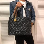 CHANEL 香奈兒 手提包 肩背包 金幣包 黑色 正品