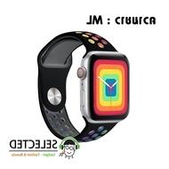 [ส่งเร็ว สต๊อกไทย] สาย OnSale.ReplaceWord Watch Pride Edition สายสีรุ้ง applewatch Sport Series 6 SE 5 4 3 ตัวเรื่อน 38 40 42 44 mm