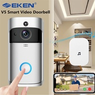 EKEN V5 WiFi smart video doorbell security camera infrared night vision wide-angle lens doorbell free cloud storage