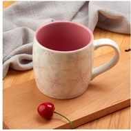 Starbucks Wind Cup Sakura Cup Starbucks wind Mug coffee cup creative embossed porcelain cup