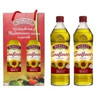 百格仕 西班牙原裝進口100%純天然葵花油1L 二入