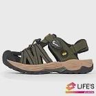 LOTTO 義大利 男 護趾排水運動涼鞋-US7軍綠/黑