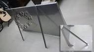 速發~新型第四代防颱風不鏽鋼遮雨板70*140cm~(正白鐵304#)~DIY晴雨棚 窗戶 遮雨棚 冷氣 專用 窗型雨遮