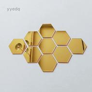 New Hexagonal 3D Mirrors Mirror Wall Sticker