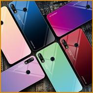 雙色漸變玻璃殼 華為Y9 Y7 Y6 pro 2019 Y7 Prime 2018 Nove4e 全包邊手機殼 軟邊保護殼 防刮 防摔殼