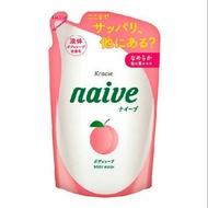 日本Kracie Naive沐浴乳補充包-保濕桃葉