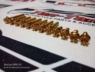 Crankcase Gold Bolts set for Mio Soul i 125 / MIO GT (Heng)