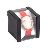 現貨批發多色塑料透明手錶包裝盒亞克力彩色禮品錶盒男女手錶盒子時尚PVC透明手錶盒禮品盒高檔手錶盒包裝盒