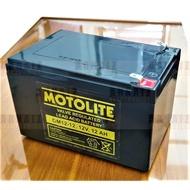 Motolite Battery 12V 12Ah OM12-12 12 Volts 12 Ampere Rechargeable E-Bike Wheelchair Elevator Battery
