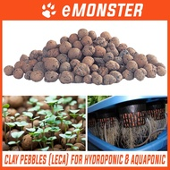 Clay Pebbles Pebble Ball (LECA) for Hydroponic & Aquaponic 8-12mm Diameter Balls- 200g 500g 1Kg 10Kg 1 10 Kg