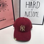 紅 MLB棒球帽2019洋基NY酒紅金屬男女鴨舌帽子314