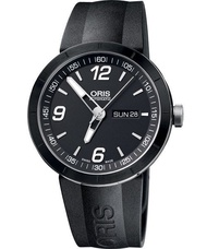 ORIS 豪利時 TT1 Day Date 陶瓷極速機械手錶 0173576514174-0742506 黑 42mm