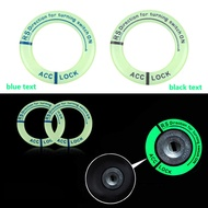 Universal Fit Luminous Ignition Engine Start Cover Key Hole Ring Sticker Motorcycle Light Accessories