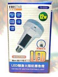 TRISTAR LED隨身太陽能應急燈 TS-G733【82384411】感應燈 照明設備《八八八e網購