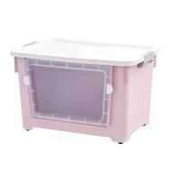 折疊收納箱 特大號收納箱前開式塑膠加厚衣服玩具整理儲物箱筐可視零食收納盒『XY3755』
