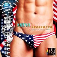 【酷比酷】 SHINO美國派超低腰拼色撞色條紋男士 丁字褲 內褲 三角褲 TH0002