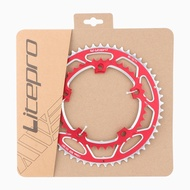 LP Litepro Bicycle Chainring Double 130BCD 53t -39t Round Aluminum Alloy Dual Chain Ring for Road / Folding Bike
