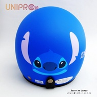 【UNIPRO】迪士尼 史迪奇臉 3/4 安全帽 騎士帽 復古帽 附贈 抗UV PC鏡片 消光版